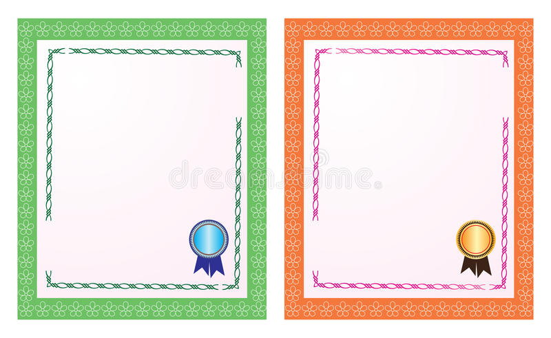 Blank Certificate Stock Illustration Illustration Of Paper