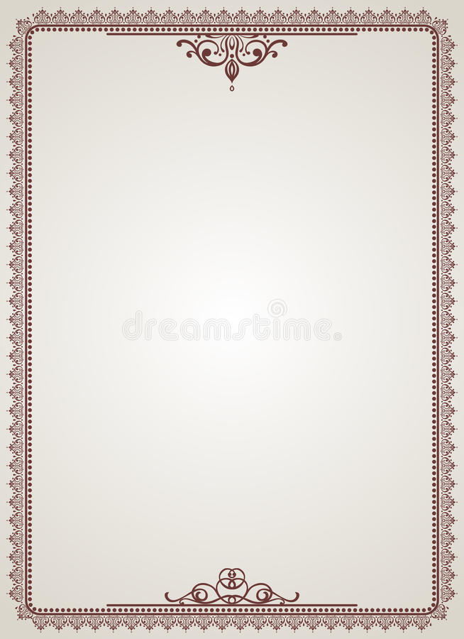 Blank certificate stock vector Illustration of diploma 27302803