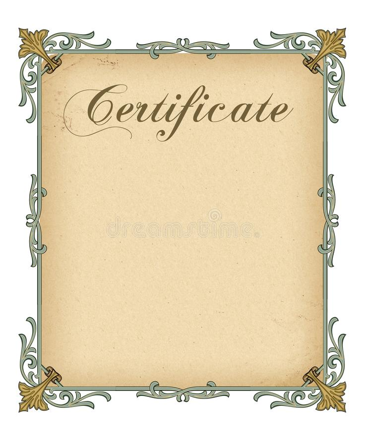 Blank Certificate Template Royalty Free Stock Images  Image