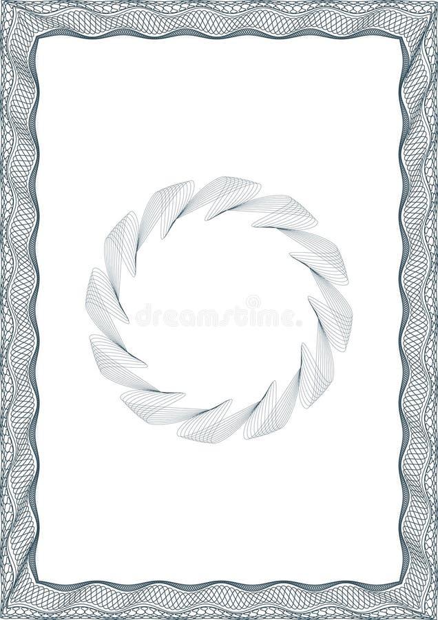 blank certifikatguillochestil royaltyfri illustrationer