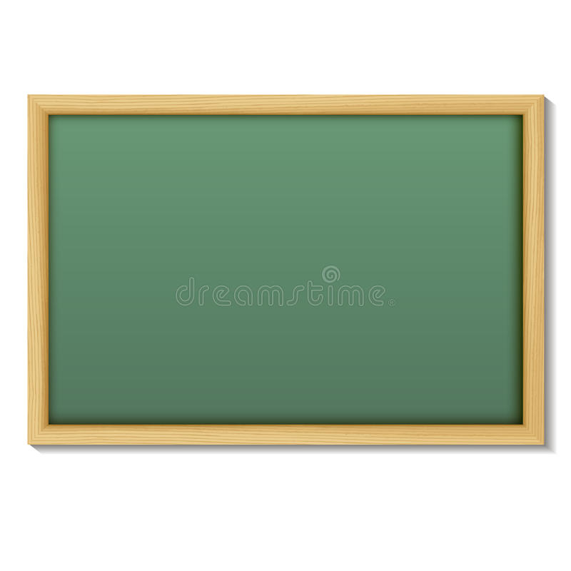 Blank Chalk Green Board In A Wood Frame For Write And Teach On W ...
