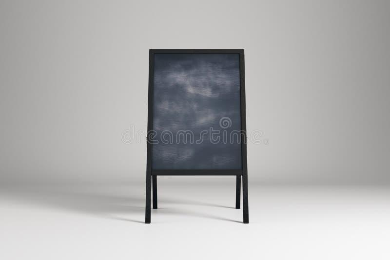 Blank chalk menu board vector illustration
