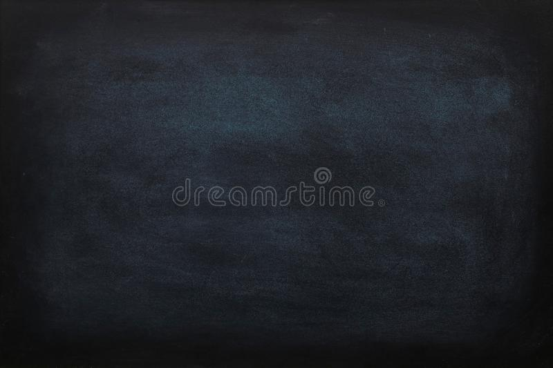 Blank chalk rubbed out on blackboard or chalkboard texture. clean school board for background or copy space for add text message.  royalty free stock image