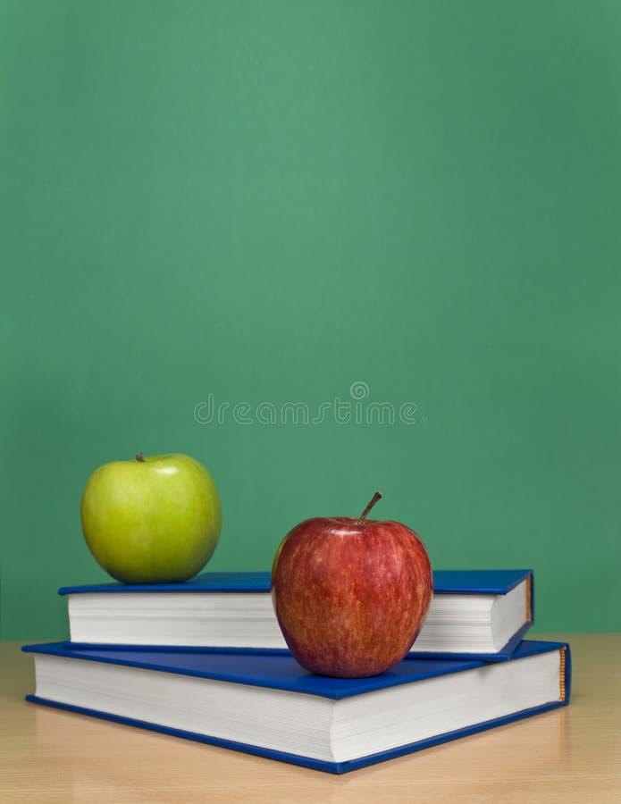 Download Blank chalkboard stock photo. Image of books, chalk, apple - 8277628