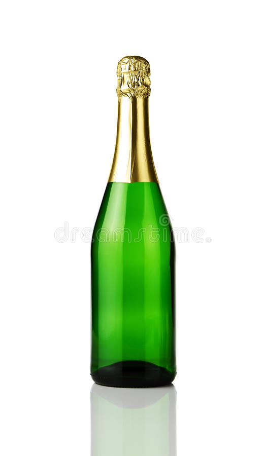 Blank Champagne Bottle Stock Images