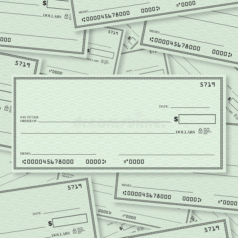 Download Blank Check Pile Background Open Space For Text Stock Illustration - Image: 23724023