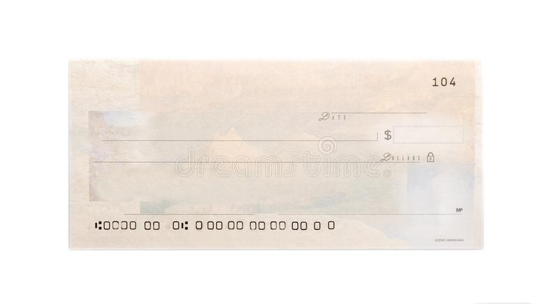 Blank Check Template royalty free stock photos