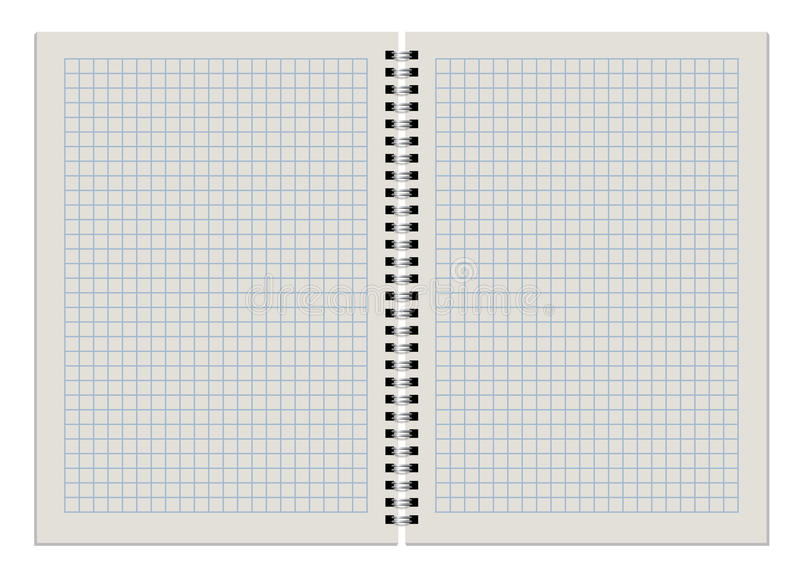 Download Blank checkered notepad stock vector. Illustration of isolated - 28208656