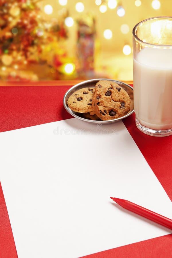 Blank Children Christmas Wish Letter Stock Images
