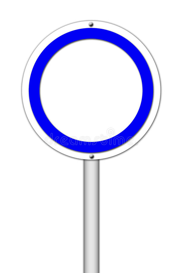 Blank circle sign on white vector illustration