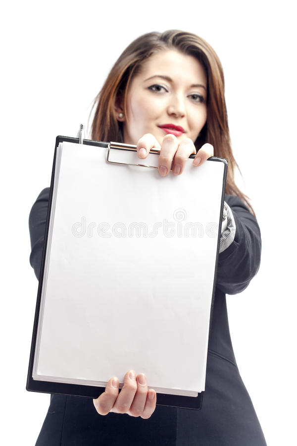 Blank clipboard royalty free stock photography
