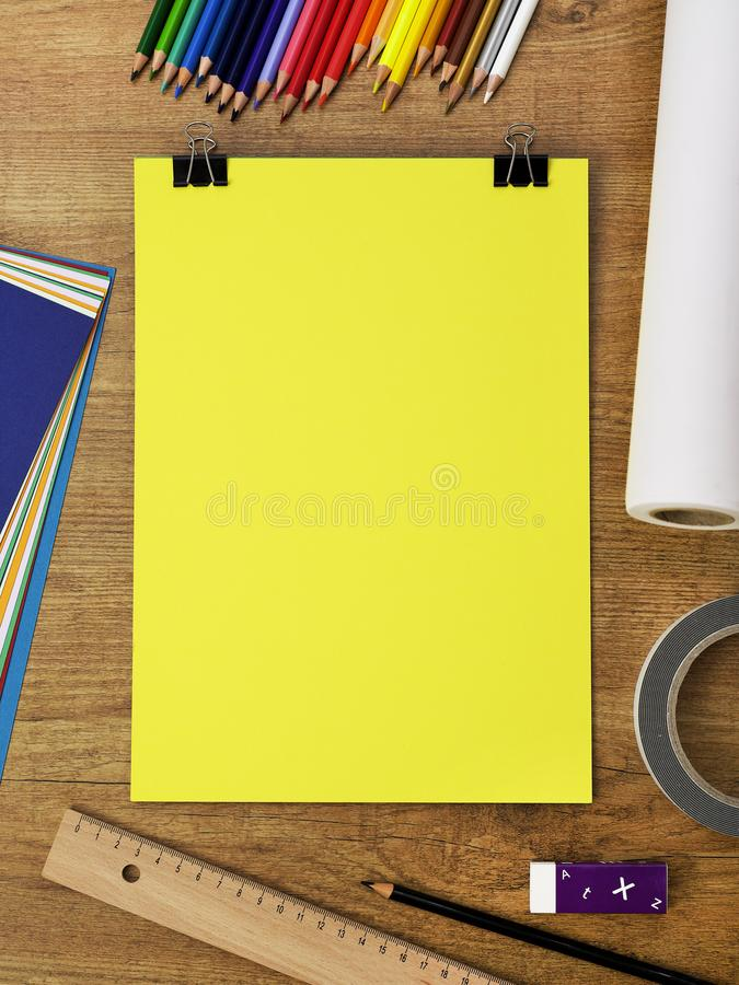 Clipboard on table royalty free stock images