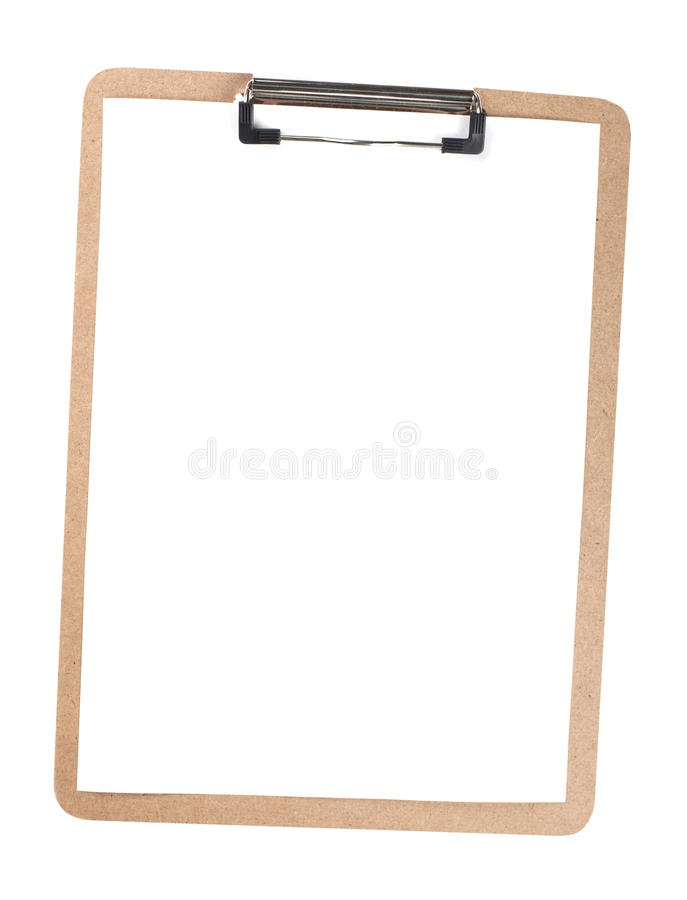 Blank Clipboard - Stock image royalty free stock photography