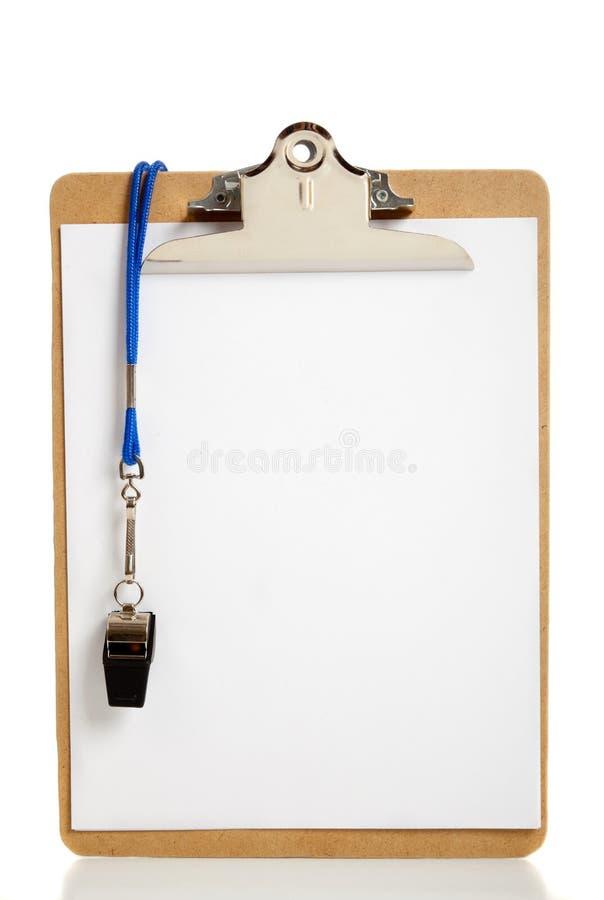 blank clipboardlagledarevissling royaltyfri fotografi