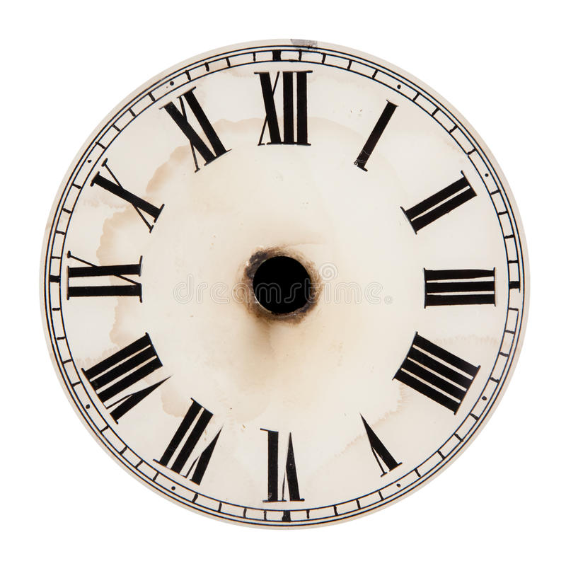 Blank clock dial without hands royalty free stock photography