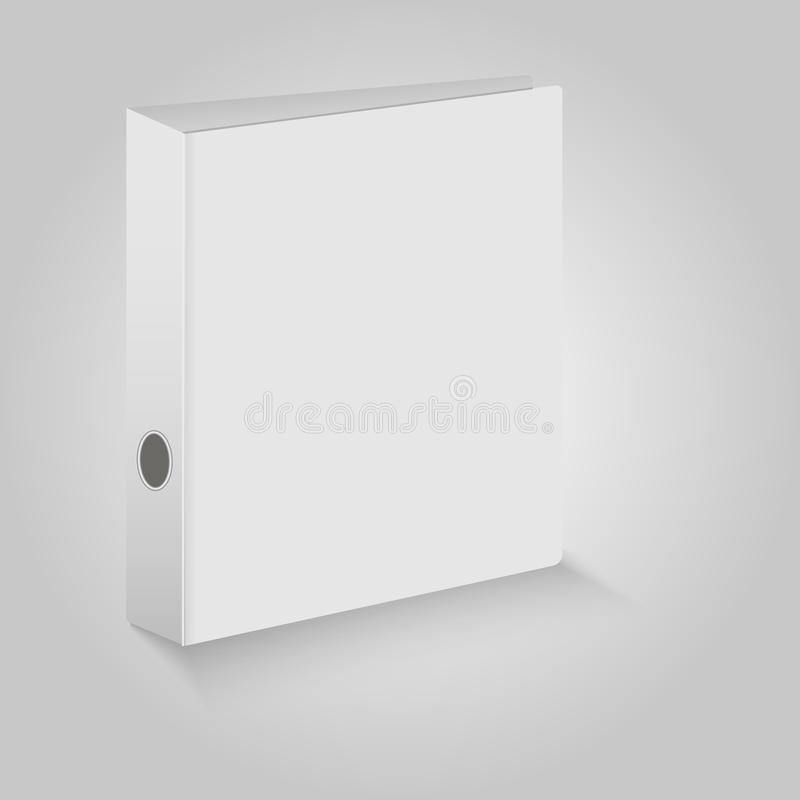 Blank closed office binder. White covers. Vector illustration.  royalty free illustration