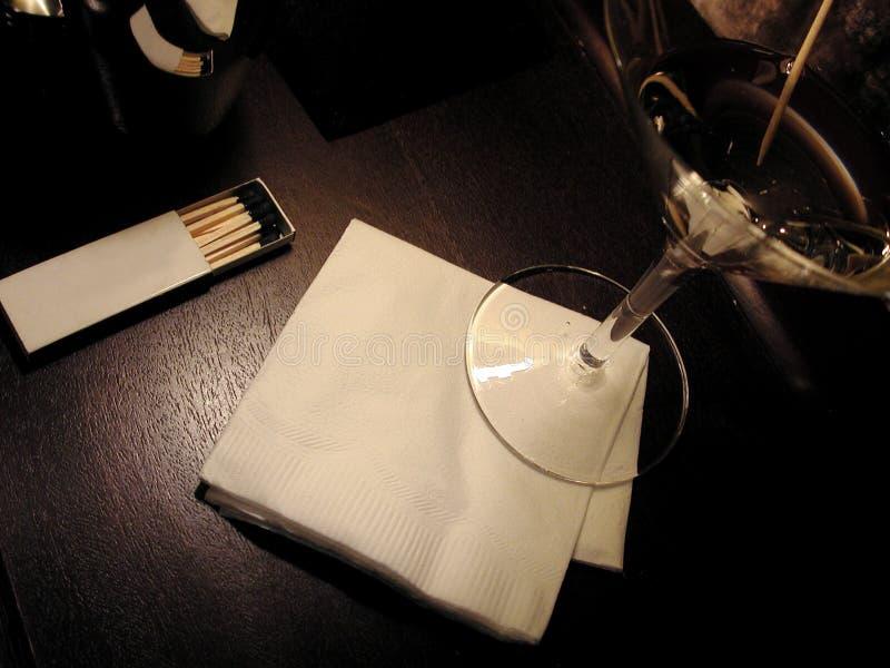 Blank cocktail napkin at a bar stock photography