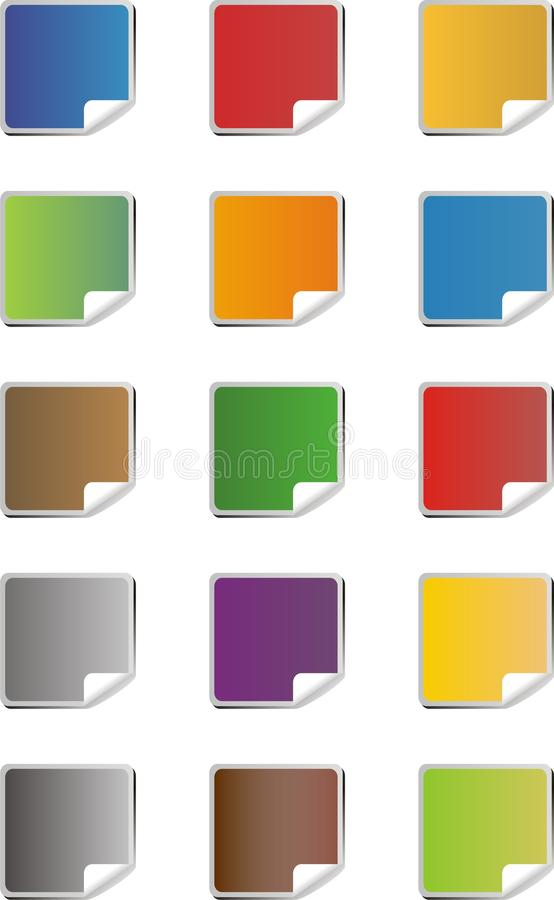Download Blank Colorful Sticker Icons Stock Vector - Illustration: 32716694
