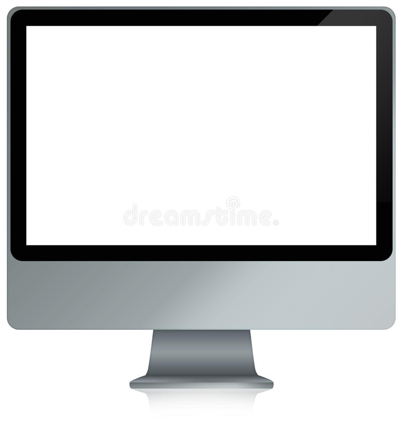 Blank computer all-in-one. Illustation of a blank all-in-one computer stock illustration