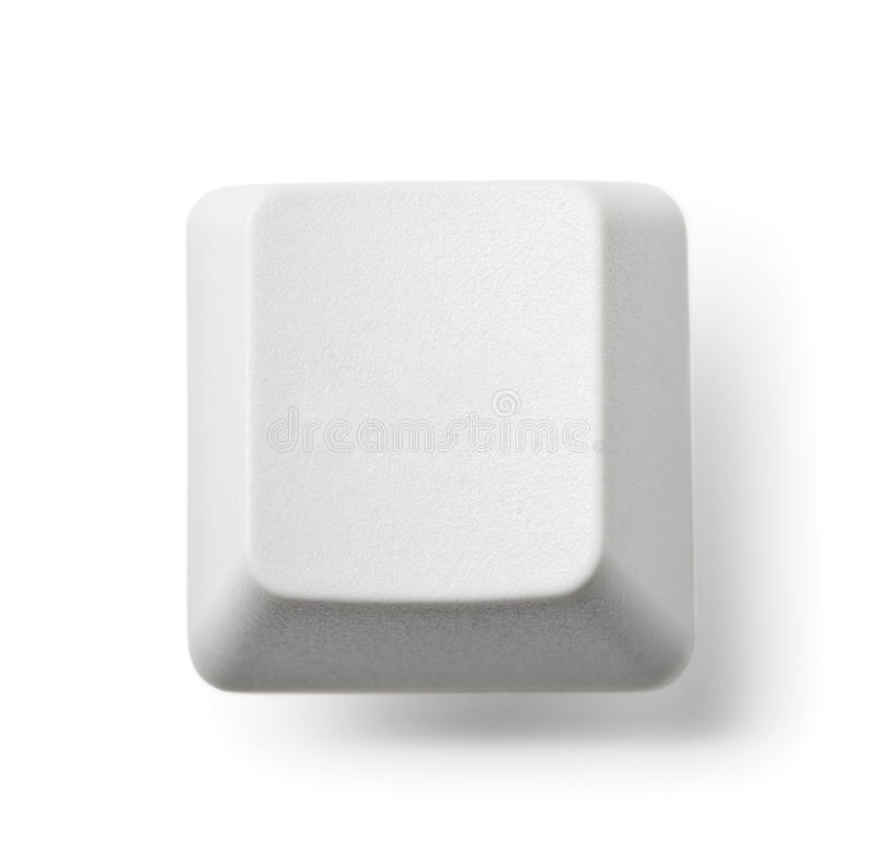 Download Blank Computer Key On White Stock Image - Image: 26213455