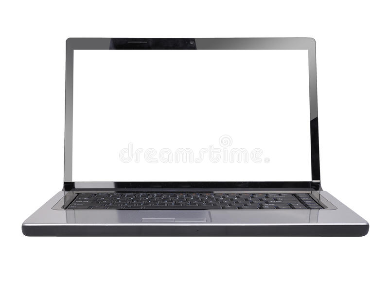 Download Blank Computer Laptop White Screen Stock Photo - Image of keys, notebook: 15508796