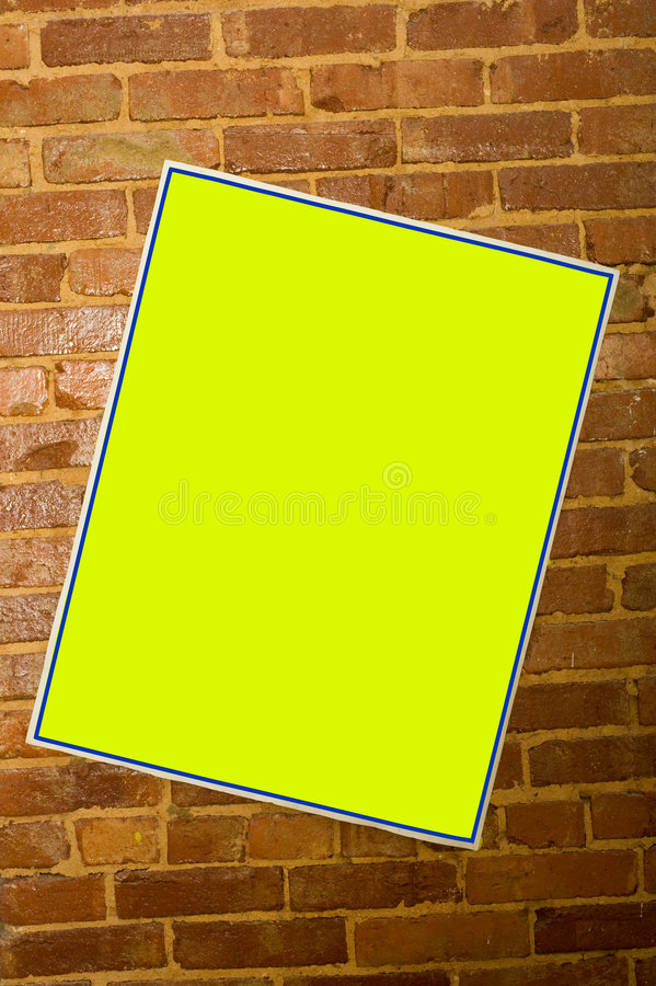 Blank Concert Poster Stock Photo