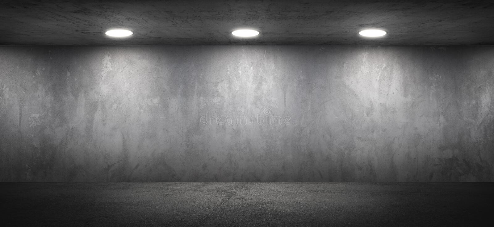 Blank Concrete Office Room Textured Wall Background royalty free stock photography