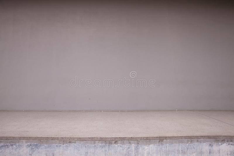 Blank Concrete wall and floor royalty free stock photos
