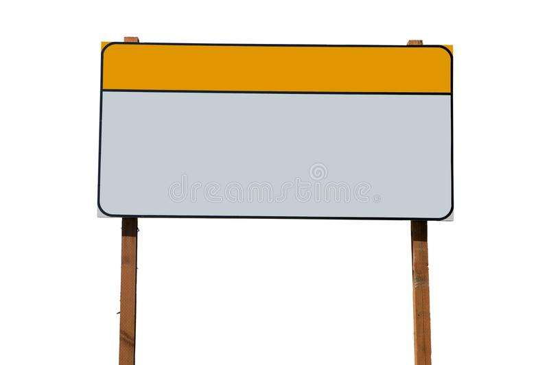 Blank construction sign royalty free stock photo