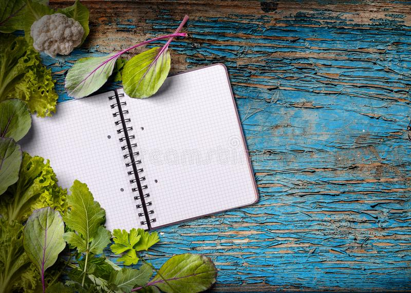 Blank cookbook for copy space royalty free stock photo