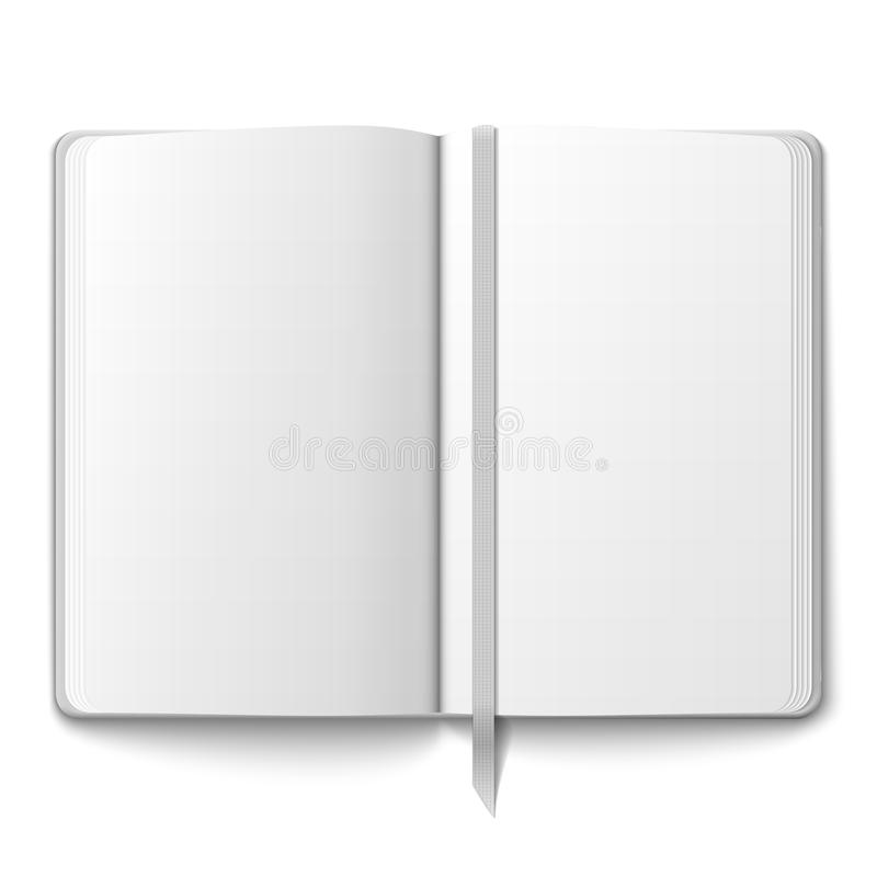 Blank Copybook Template With Bookmark. Royalty Free Stock Image