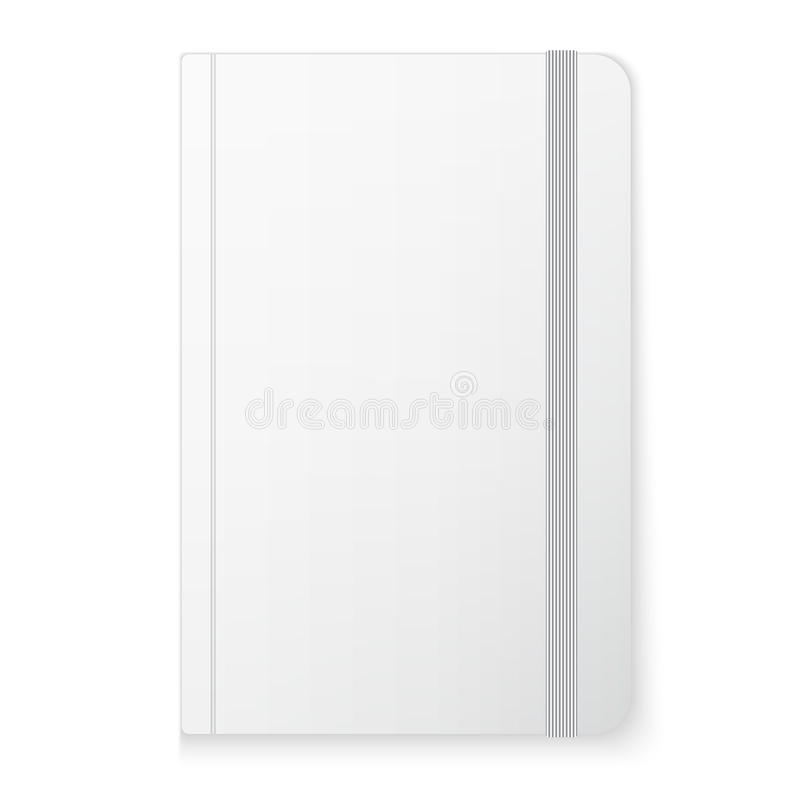 Blank copybook template. With elastic band stock illustration