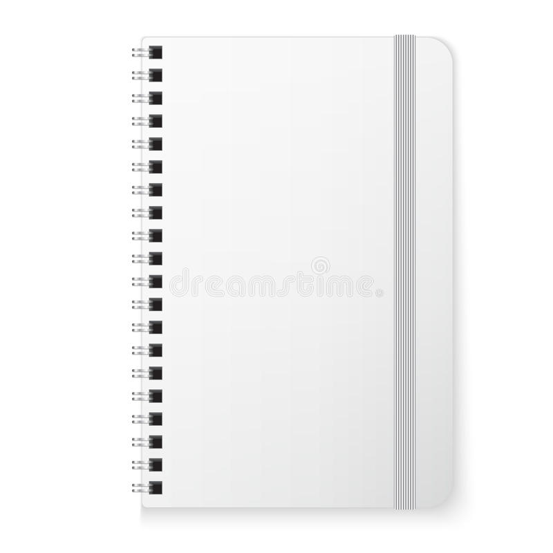 Blank copybook template. With elastic band royalty free illustration
