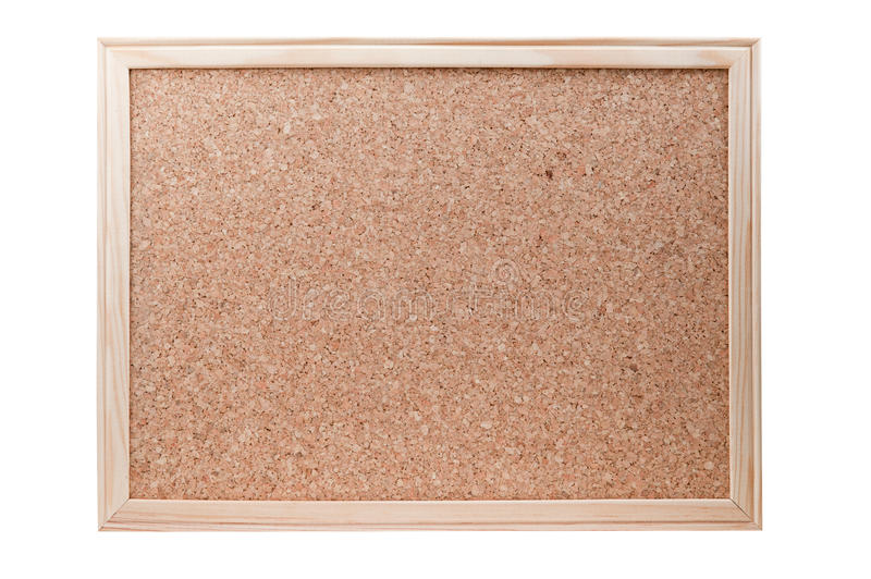 Download Blank Cork Board With A Wooden Frame Isolated Stock Image - Image: 18624511