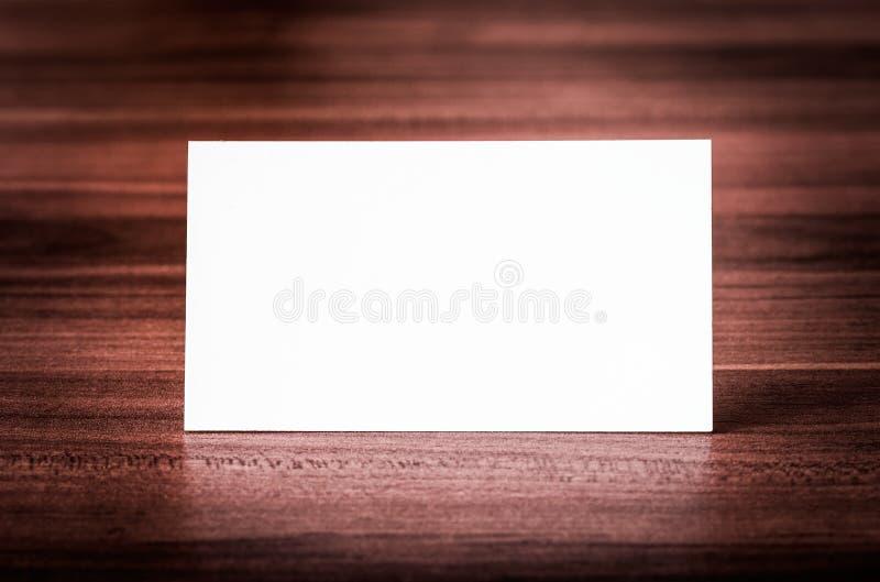 Blank corporate identity business card. stock photos
