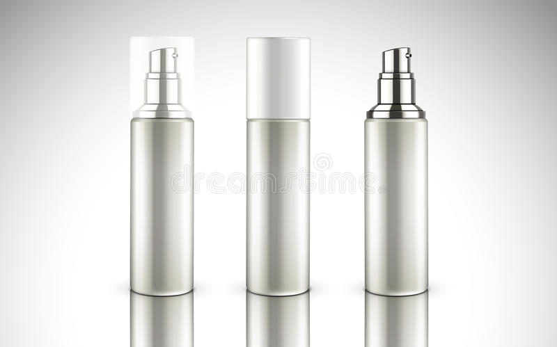 Blank cosmetic bottles vector illustration