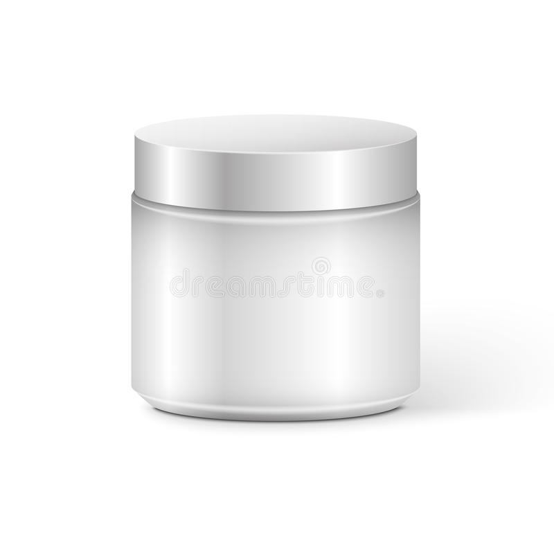 Blank Cosmetic Container. For Cream, Powder or Gel vector illustration