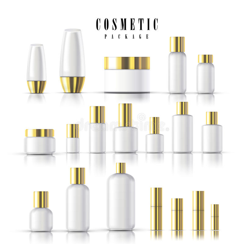 blank cosmetic package collection vector illustration