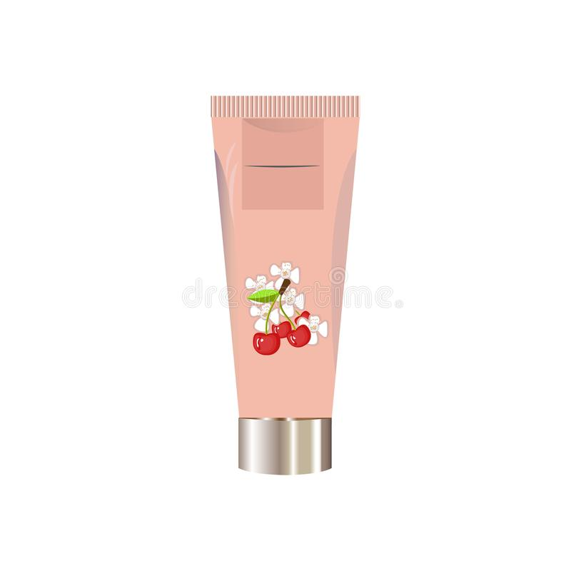 Blank cosmetic package container for cream, powder or gel vector illustration