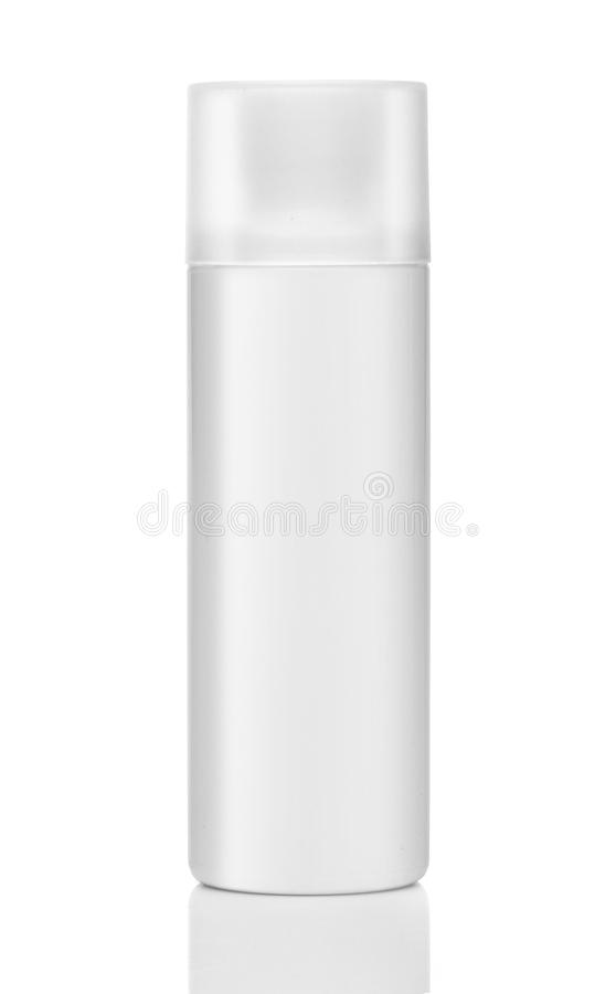 Blank cosmetic product isolated over a white royalty free stock photo