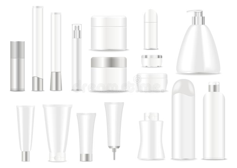 Blank cosmetic tubes vector illustration