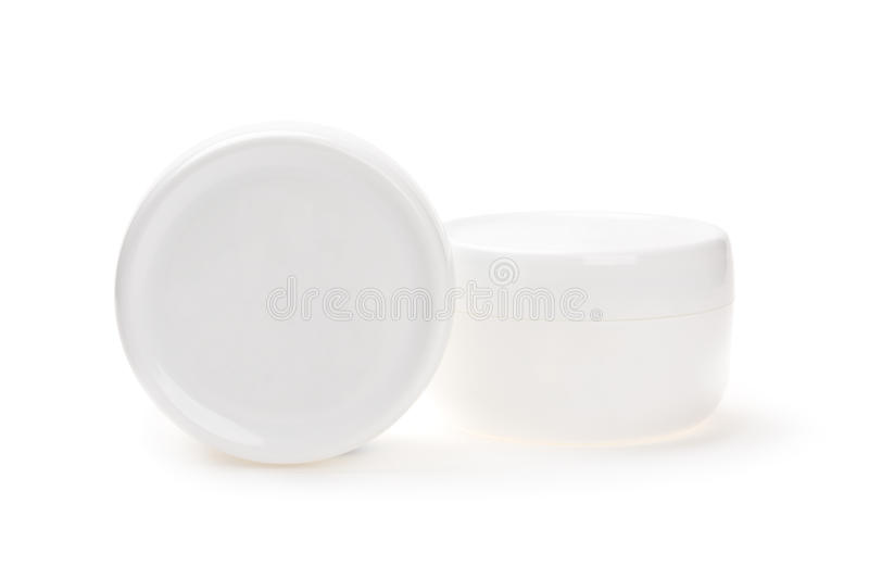 Blank cosmetics containers royalty free stock photography