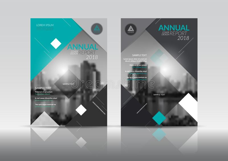 Annual report cover brochure flyer design template with abstract vector background. stock illustration