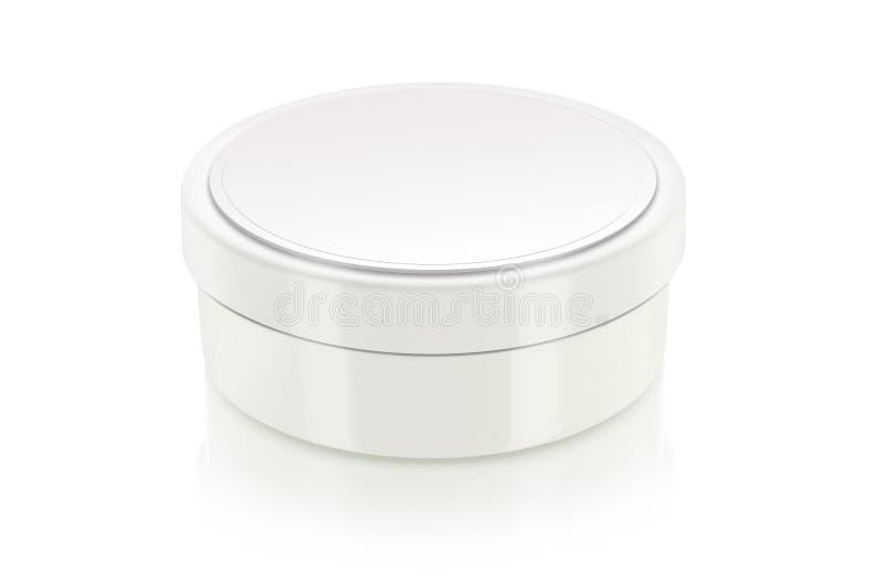 Blank cream box on white stock photography