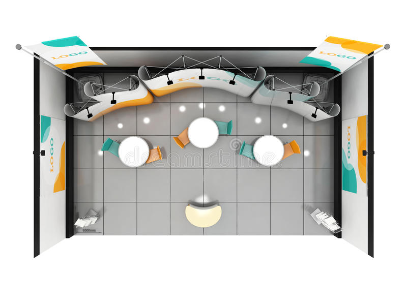Blank Creative Exhibition Stand Design. Booth Template. 3D Render ...