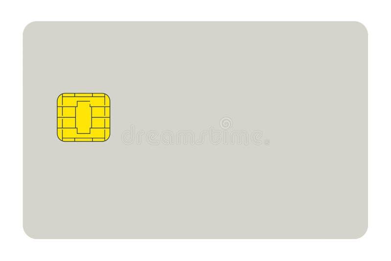 Blank credit card vector illustration
