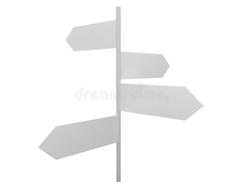 Blank Crossroad Signs royalty free illustration