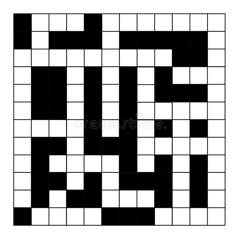 Blank crossword puzzle stock illustration. Illustration of puzzling ...