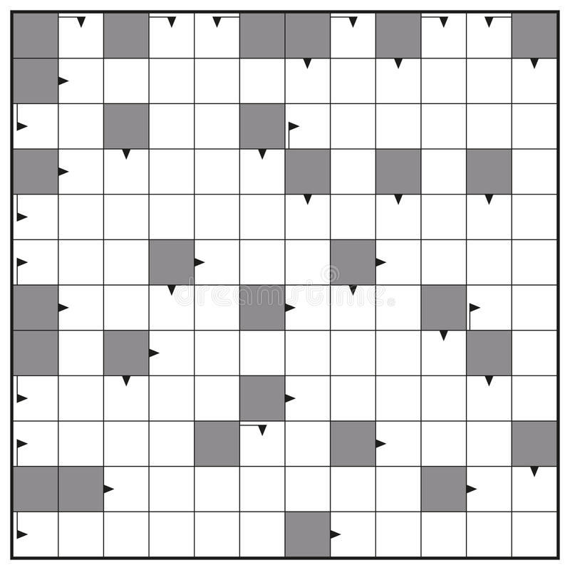 Blank Crossword Puzzle Square Background Stock Vector - Illustration ...