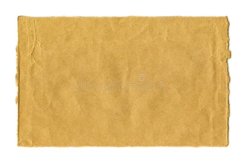 Blank crumpled brown paper textured background isolated royalty free stock photography